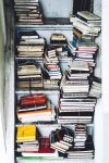 Closet full of stacks of journals
