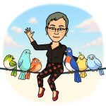 Marylee hanging out with carrier pigeons