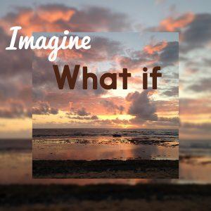 Sunrise over ocean graphic image.marylee Pangman